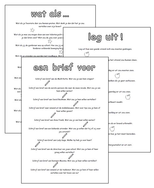 opdracht brief schrijven Lessen van Lisa   Schrijven