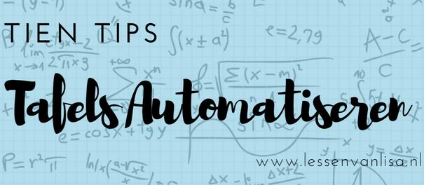 Super Lessen van Lisa - Automatiseren @DZ56